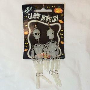 2/$20 Halloween Glow in Dark Skeleton Earrings Fun